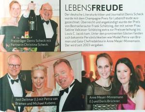 Alster-Magazin - Champagne Preis für Lebensfreude 05-2015