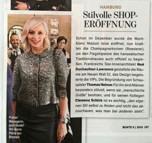 Bunte - Montblanc Shop Opening Hamburg
