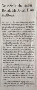 Hamburger Abendblatt - Petra van Bremen, die neue Schirmherrin