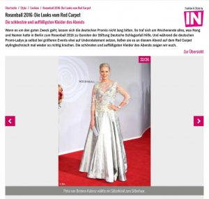 IN - Rosenball Red Carpet Look