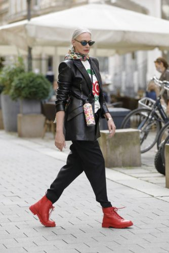 DUSSELDORF, GERMANY - JULY 13:  during a street style shooting on July 13, 2020 in Dusseldorf, Germany. (Photo by Streetstyleograph/Getty Images)